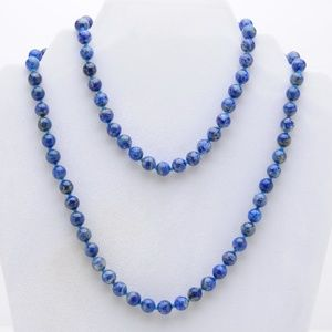 """Jewelry - Lapis Lazuli Hand-knotted Necklace - 32"""" Vintage"""
